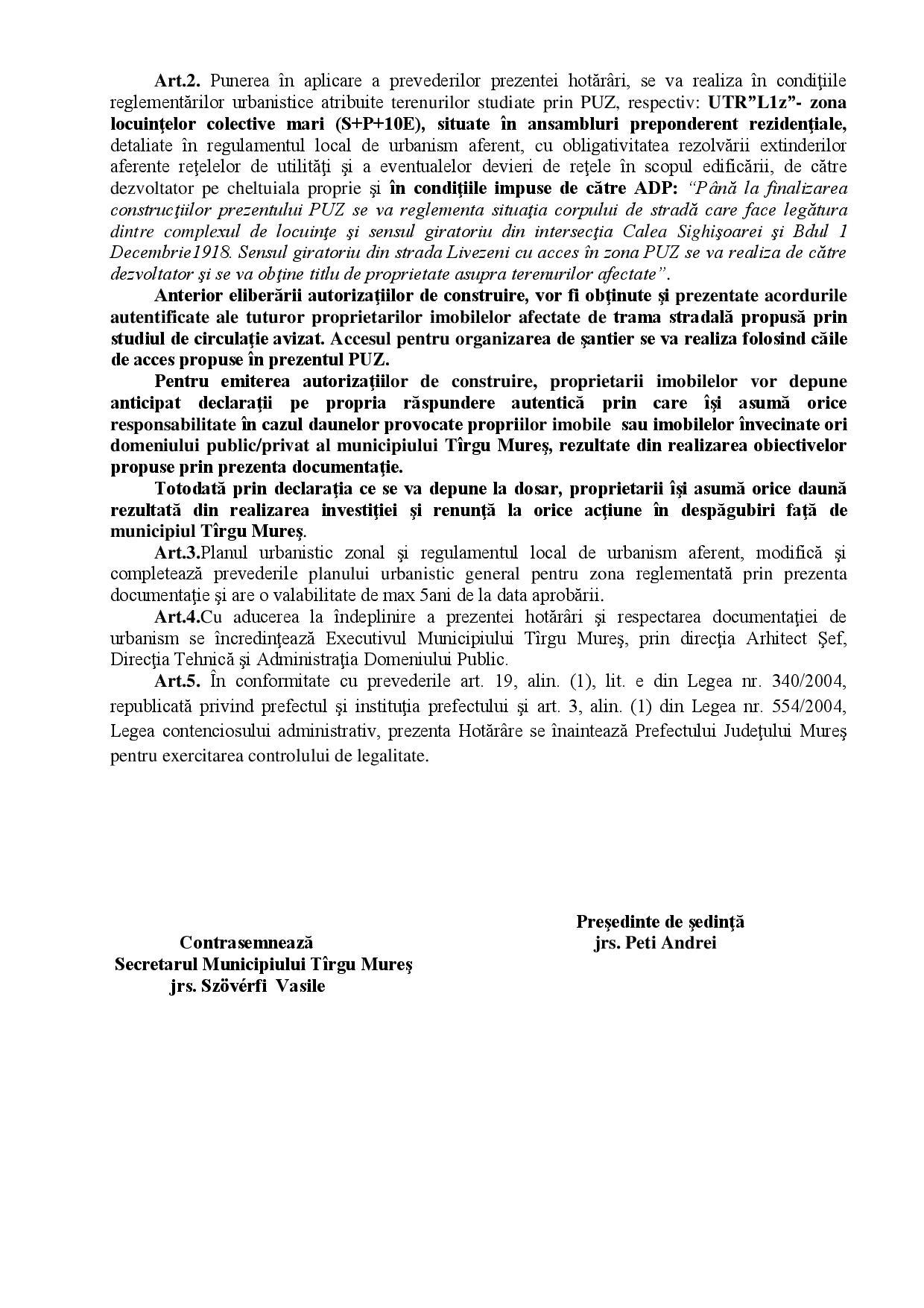 Ceva-i putred în Târgu Mureș se actualizează documentația PUZ aprobată prin HCL nr. 303/2007.